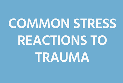 Common Stress Reactions to Trauma