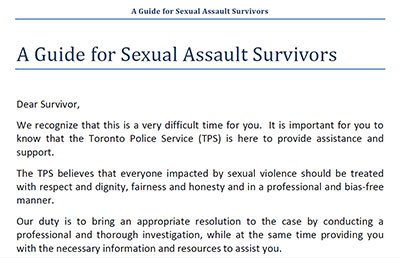 A Guide for Sexual Assault Survivors