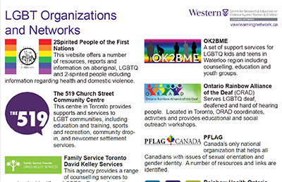 LGBT Organizations and Networks
