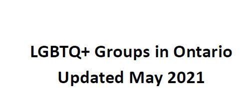 LGBTQ+ Groups in Ontario PDF